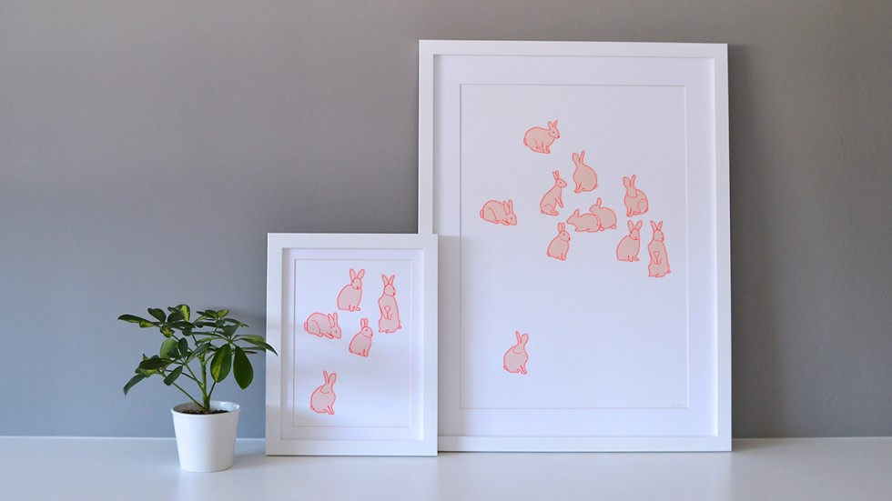 rabbit paper pieces lower